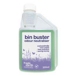 Bin Buster Odour Neutraliser - Eliminates unwelcome and persistent odours from all types of waste containers. Long lasting action, non-toxic biodegradable formula