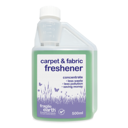 Carpet and Fabric Freshener.  eliminates odours on carpets and fabrics, persistent action, non-toxic, non- acidic and biodegradable