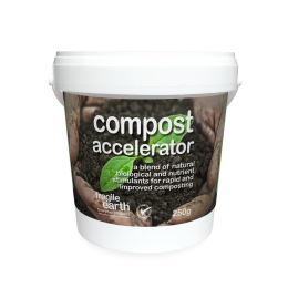 Compost Accelerator boosts microbial diversity, speeds up composting, improves and stabilises the humus content and provides trace elements.
