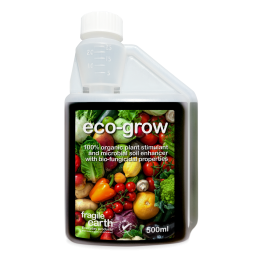 EcoGrow Organic Microbial Growth Stimulant 500ml - makes up to 50 litres- all-natural plant bio-stimulant and soil microbial enhancer