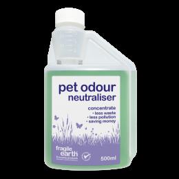 Pet Odour Neutraliser - eliminates pet smells use on pet bedding, rugs or fabrics where pet odours persist. Biodegradable formula safer than chemicals.