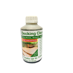 Decking Cleaner Liquid SUPER CONCENTRATE- 500ml. Kills 'green growth' inorganic acid and bleach free, safe and non-toxic