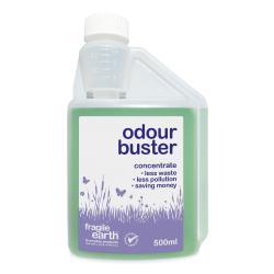 Odour Buster - eliminates bad smells on a wide range of surfaces, fabric and pet safe. Biodegradable formula safer than chemicals.