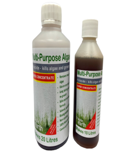 Multi-Purpose Hard Surface Algaecide SUPER CONCENTRATE- Algaecide, biocide & fungicide kills 'green growth' inorganic acid and bleach free, safe and non-toxic