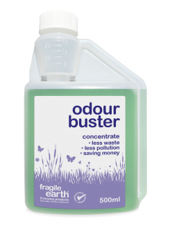 Odour Buster - eliminates bad smells on a wide range of surfaces, fabric and pet safe. Biodegradable formula safer than chemicals.