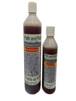 Path and Patio Cleaner Liquid SUPER CONCENTRATE- Algaecide and biocide kills 'green growth' inorganic acid and bleach free, safe and non-toxic